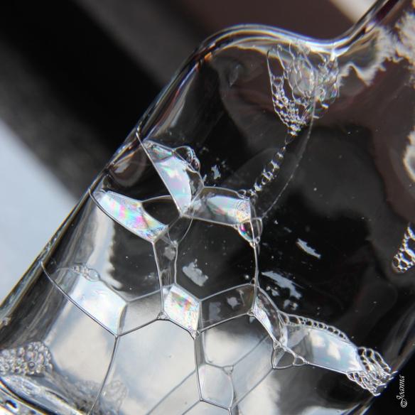 bubbles in a bottle
